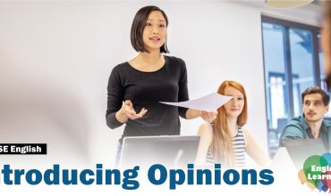 HKDSE English: Introducing Opinions (Picture: Asian girl expressing her opinions confidently)